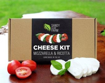Mozzarella e Ricotta formaggio Kit - Make Your Own - basta aggiungere latte!