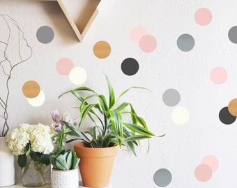 Wall Decal - Neutrals and Metallics Confetti Dots - Wall Sticker - Room Decor