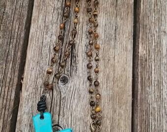 "30"" Tiger Eye Rosary"