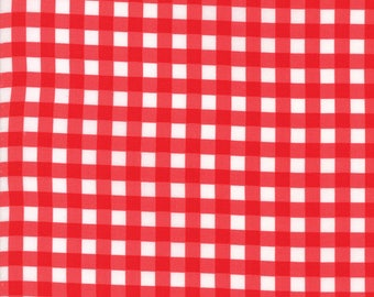 VINTAGE HOLIDAY Bonnie & Camille Vintage Christmas Plaid Red 1 Yard Moda Fabric