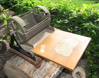 Rotary Neostyle Mimeograph #6 Paper Copy Machine Pat 1904 w Counter & Price List
