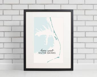 Outer Banks Print, OBX Print, Outer banks NC, Home Sweet OBX