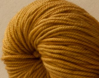 Madeleine sport weight - Brass - 100% SW Merino Hand Dyed Yarn 325 yds