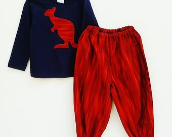 """Outback clothing for boys, Kangaroo clothes, Clothing for boys, size  1T, """"READY TO SHIP"""""""