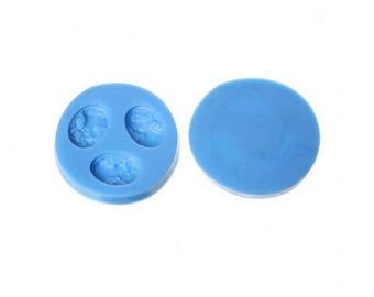 3 cameo silicone mold