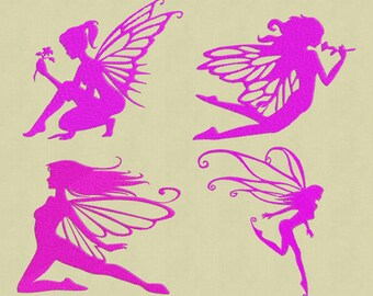 embroidery 4 designs Fairy 4x4 pes jef hus