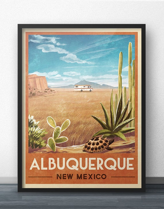 Breaking Bad RV Vintage Travel Poster of Albuquerque New