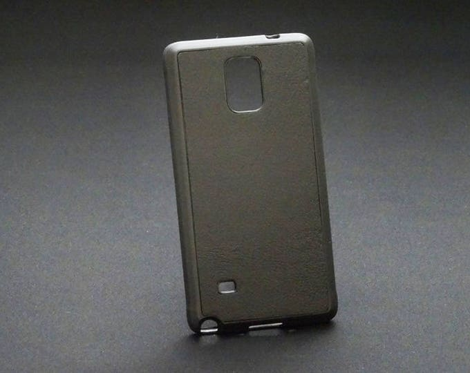 Samsung Galaxy Note 4 - Jimmy Case - Genuine Kangaroo Leather Protective Rubber Phone Case Handmade - Black