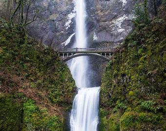 Fine Art Photo Print, Multnomah Falls, Columbia River Gorge, Pacific Northwest Waterfall, Oregon Landscape Nature Photography