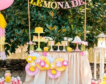 Pink Lemonade Stand Birthday Printable Party - Custom Package - SALE!