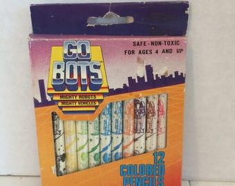 12 Pack of GO Bots Colored Pencils, Go Bots Colored pencils