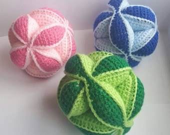 Amish puzzle ball, Crochet puzzle ball