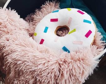 Sprinkle Donut Cushion - Doughnut Pillow - Nursery Decor - Home Decor