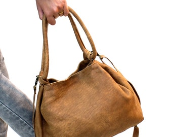 Sale!!! Brown Leather crossbody, leather bags women, leather purse, handmade leather bag by Limor Galili