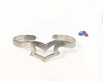 Vintage Sterling Silver Cuff Bracelet - Cuff Jewelry - Modern Eagle - Adan Alvarado Taxco Mexico - 925 Mexican Modernist Statement Jewelry