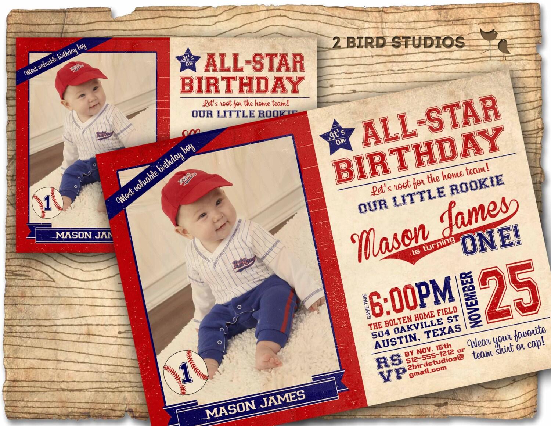 Baseball invitation Baseball Birthday Party Invitation