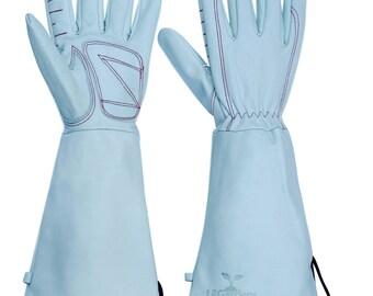 Long Cuff Leather garden gloves