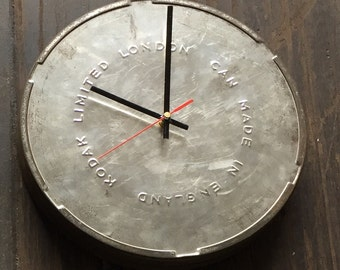 Vintage film tin clock 30cm