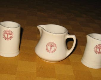United States Army Medical Department creamers from the 1940's