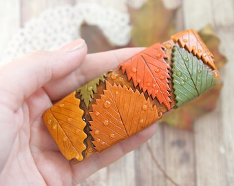 Leaves hair clip barrette Bridal hair accessories Boho wedding hair jewelry Woodland wedding nature inspired botanical gift for wife gift