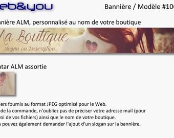 Custom banner, avatar and shop 'Romantic shop'