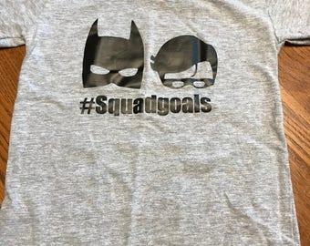 children toddler custom vinyl superhero shirt #squadgoals batman
