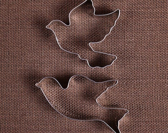 Wedding Dove Cookie Cutters, Christmas Cookie Cutters, Turtle Dove Cookie Cutters, Wedding Cookie Cutters, Bird Cookie Cutter