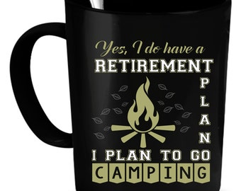 Camping Coffee Mug 11 oz. Perfect Gift for Your Dad, Mom, Boyfriend, Girlfriend, or Friend - Proudly Made in the USA!