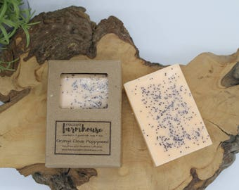 Orange Clove Poppyseed - Bar Soap - Goats Milk - All Natural - Farmhouse - Natural Soap - Goats Milk Soap - Handmade Soap - Fall Soap
