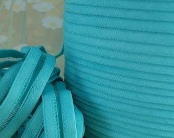 3yds Elastic Ribbon Trim 1/2 inch - 13mm -  Blue Turquoise Aqua Stretch Mesh Headbands Fancy Elastic by the yard WST Firm