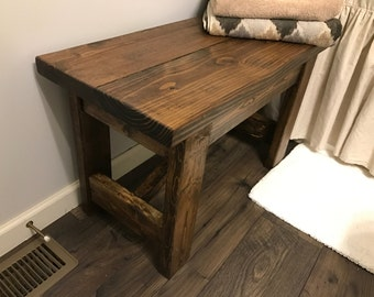 Delightful Farmhouse Entryway Bench   Farmhouse Furniture   Rustic Bench   Rustic  Furniture   Wooden Bench