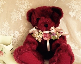 Valentines Plush Victorian Bear Rhapsody Vintage