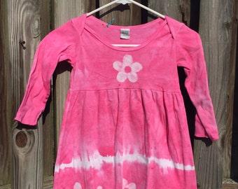 Girls Easter Dress, Pink Easter Dress, Long Sleeve Easter Dress, Flower Girls Dress, Girls Flower Dress, Pink Flower Dress (4T)