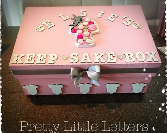 personalisd baby keep sake boxes. Any colour any name. Gift baby newborn present baby boy girl