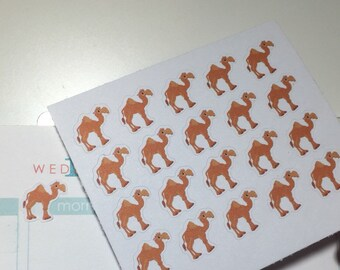 """Set of 20 - """"Hump Day"""" Camel Stickers"""