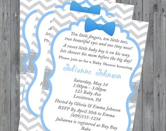 Personalized Baby Boy Baby Shower Invitation