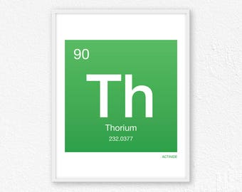 90 Thorium, Periodic Table Element | Periodic Table of Elements, Science Wall Art, Science Poster, Science Print, Science Gift