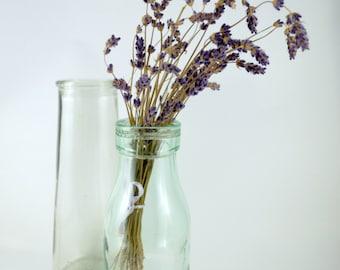 Vintage Milk Bottle, Clear Glass Milk Bottle, Soviet Milk Bottle, Vintage Home Decor, Glass Vase, Collectible Glass Bottles, Aqua Tint Glass