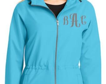Women's Monogrammed Rain Jacket