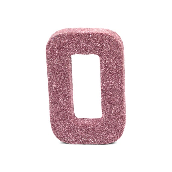 """8"""" Glitter Number 0, Paper Mache Number 0, Giant Pink Number Centerpiece Number Zero Table Letters Large Decorative Blush Pink Birthday"""