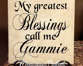 My Greatest Blessings Call Me Gammie Vinyl Art Decorative Tile