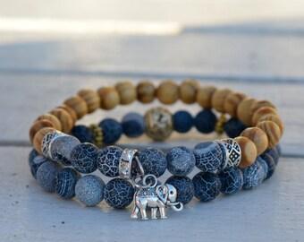 Perfect gift,elephant bracelet,good luck,lucky jewelry, wooden bracelet.