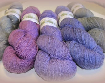 Silk Sparkle Merino Laceweight yarn