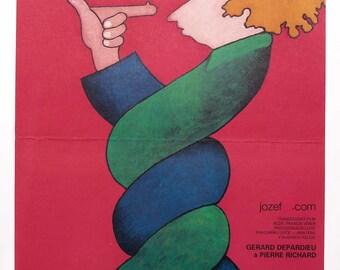 FUGITIVES Pierre Richard Movie Poster, Original 1980s poster, Vintage Movie Poster, Movie Poster, Wall Art Illustration, Vintage Poster