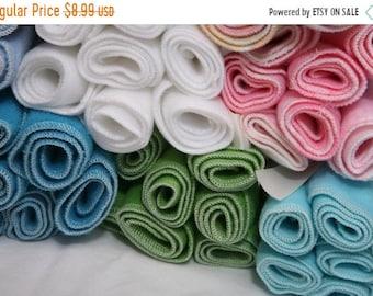 Spring Sale Fleece Diaper Liners- 10 fleece diaper liners- U PICK color