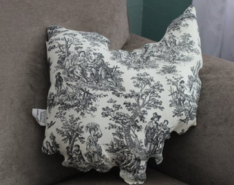 State of Ohio Accent Pillow French Toile (Ready to ship!)