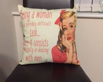 Handmade Vintage Style Funny Pillow Cushion