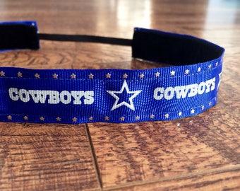 Dallas Cowboys headband. Cowboys headband, Women's Cowboys headband, girls Cowboys headband, Cowboys hair accessory, athletic headband