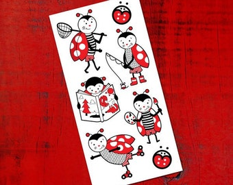 Temporary Tattoos - Leucan's Ladybugs