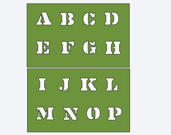 Upper Case Alphabet Stencils for Onesie Painting - Custom Stencil - Create Your Own Onesie - Onesie Decorating Station - Onesie Painting Kit